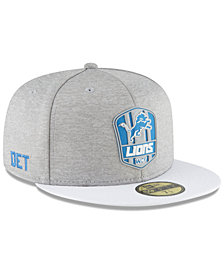 New Era Detroit Lions On Field Sideline Road 59FIFTY FITTED Cap