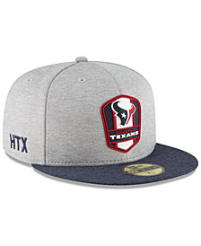 New Era Houston Texans On Field Sideline Road 59FIFTY FITTED Cap