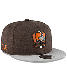New Era Cleveland Browns On Field Sideline Road 9FIFTY Snapback Cap