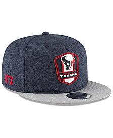 New Era Houston Texans On Field Sideline Road 9FIFTY Snapback Cap