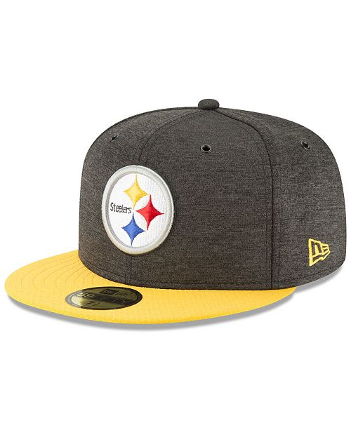 best sneakers ec628 cc205 Pittsburgh Steelers On Field Sideline Home 59FIFTY FITTED Cap ...
