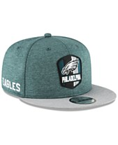 New Era Philadelphia Eagles On Field Sideline Road 9FIFTY Snapback Cap aa93b0b4a02b