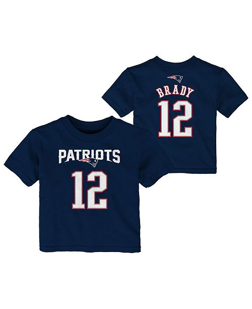 new product 9b6b7 e68ed Tom Brady New England Patriots Mainliner Player T-Shirt, Infants (12-24  Months)