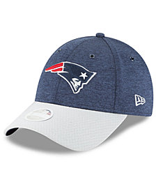 New Era Women's New England Patriots On Field Sideline Home 9FORTY Strapback Cap