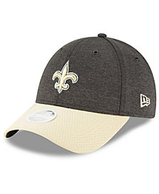 New Era Women's New Orleans Saints On Field Sideline Home 9FORTY Strapback Cap