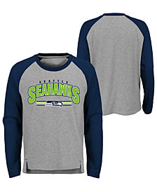 Outerstuff Seattle Seahawks Audible Long Sleeve T-Shirt, Big Boys (8-20)
