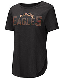 Touch by Alyssa Milano Women's Philadelphia Eagles Touch Rosegold Stone T-Shirt