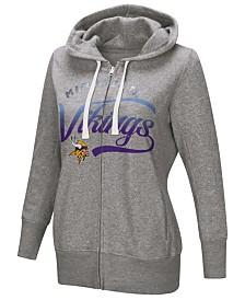 Touch by Alyssa Milano Women's Minnesota Vikings Touch Glitter Hoodie