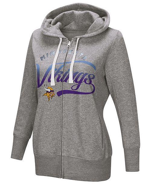 29615080 Women's Minnesota Vikings Touch Glitter Hoodie