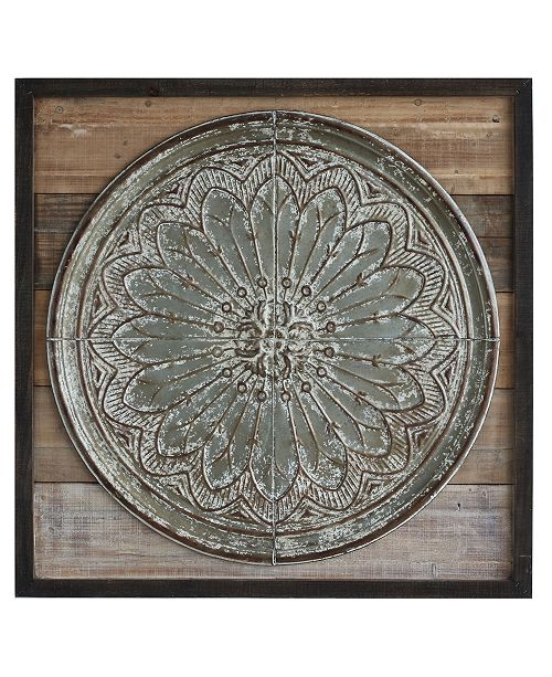 3R Studio Wood & Tin Wall Décor