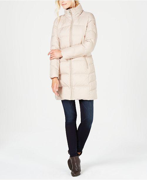 fe5efbabcca Calvin Klein Faux-Fur-Trim Puffer Coat   Reviews - Coats - Women ...