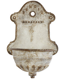 3R Studio Iron Reproduction of Vintage Wall Water Fountain