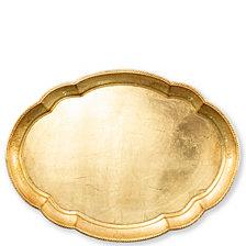 Vietri Florentine Wooden Large Oval Tray