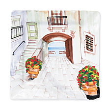 Vietri Landscape Inside Looking Out Square Wall Plate