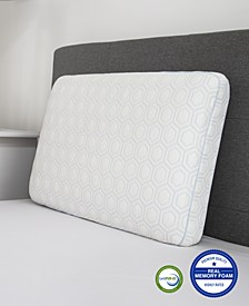 CLOSEOUT! Luxury Gel-Infused Memory Foam Oversized Gusseted Pillow with Heat Reducing COOLcloth Cover and Built-In iCOOL Technology System