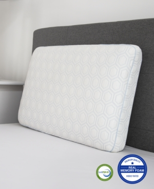 Image of Luxury Gel-Infused Memory Foam King Gusseted Pillow with Heat Reducing COOLcloth Cover and Built-In iCOOL Technology System