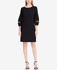 Lauren Ralph Lauren Lace-Trim Shift Dress