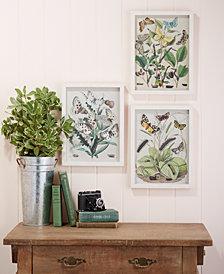 Garden Charms Set of 3 Paper Cut Butterfly Wall Art