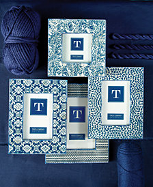 Indigo Set of 4 Batik Print Photo Frames Includes