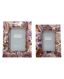 Amethyst Frames, Set of 2