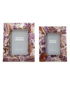 Two's Company Amethyst Frames, Set of 2