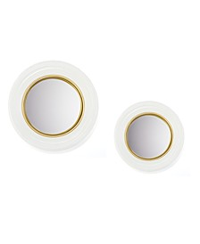 White Lacquer Mirrors, Set of 2