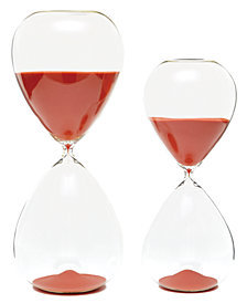 Set of 2 Tangerine Sand Timers Includes 2 Sizes