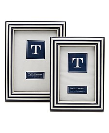 Two's Company Black and White Frames, Set of 2