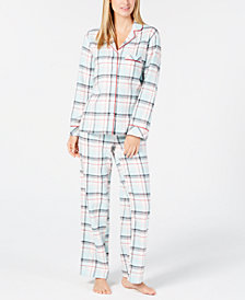 Charter Club Petite Cotton Printed Pajama Set, Created for Macy's