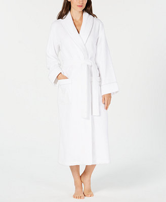 Luxe Terry Piped Wrap Robe, Created For Macy's by Charter Club
