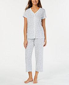Charter Club Cotton Printed Top & Pajama Pants Set, Created for Macy's