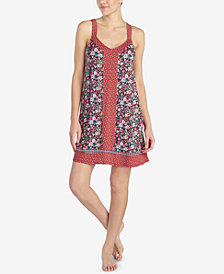 Layla Mixed-Print Short Chemise