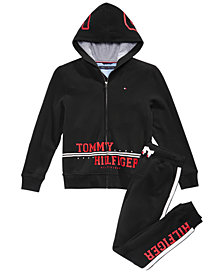 Tommy Hilfiger Big Boys Logo-Print Hoodie & Jogger Pants Separates