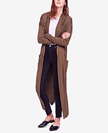 Free People Hangout Long Thumb-Hole Cardigan