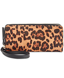 I.N.C. Remmey Leopard-Print Zip-Around Wallet, Created for Macy's