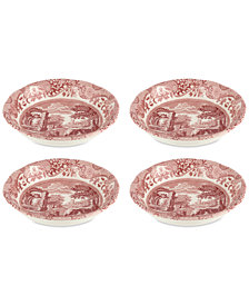 Spode Cranberry Italian Cereal Bowls, Set of 4