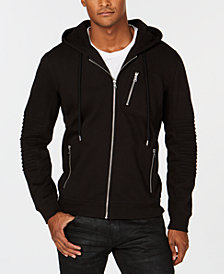 I.N.C. Men's Full-Zip Moto Hoodie, Created for Macy's