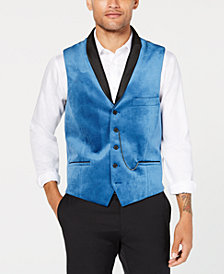I.N.C. Men's Party Velvet Slim-Fit Vest, Created for Macy's
