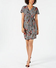 Robbie Bee Petite Floral Printed Sarong Dress