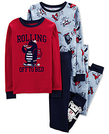 Carter's Big Boys 4-Pc. Monster Snug-Fit Cotton Pajama Set
