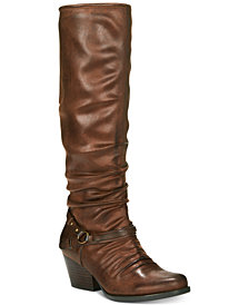 Baretraps Roz Block-Heel Riding Boots, Created for Macy's