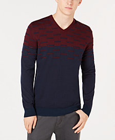 Alfani Men's Colorblocked Dash Sweater, Created for Macy's