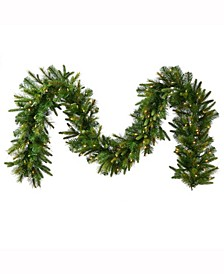 25' Cashmere Artificial Christmas Garland with 300 Clear Lights