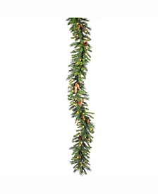 Vickerman 9' Cheyenne Artificial Christmas Garland with 100 Warm White Lights