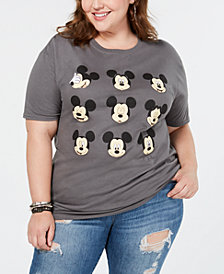 Love Tribe Plus Size Cotton Mickey Mouse Expressions T-Shirt