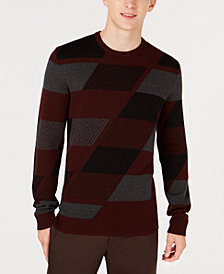 Alfani Men's Abstract Colorblocked Sweater, Created for Macy's