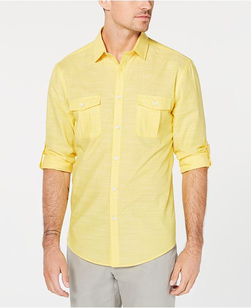 e059f0a5ebb Alfani Men s Warren Long Sleeve Shirt