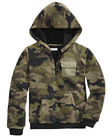 Epic Threads Big Boys Camo-Print Fleece-Lined Hoodie, Created for Macy's
