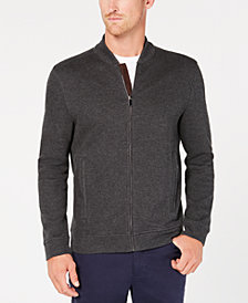 Tasso Elba Men's Zip-Front Ribbed Jacket, Created for Macy's