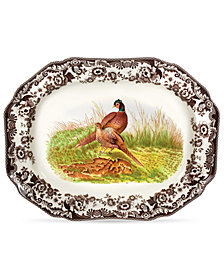Spode Woodland Pheasant Octogonal Platter